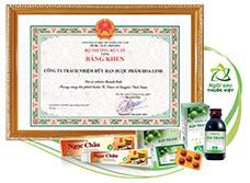 Bộ Y Tế trao tặng bằng khen cho Công ty Dược phẩm Hoa Linh